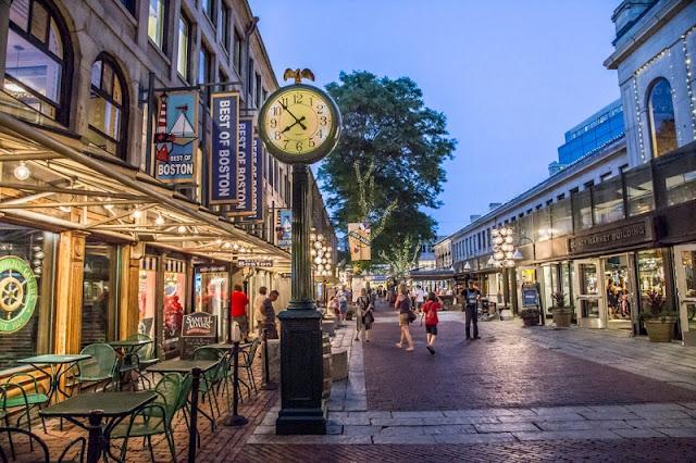 Mercado de Quincy em Boston