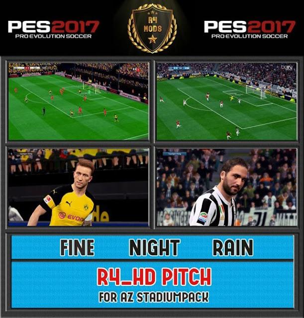 R4 Amazing Pitch For AZ Stadium PES 2017