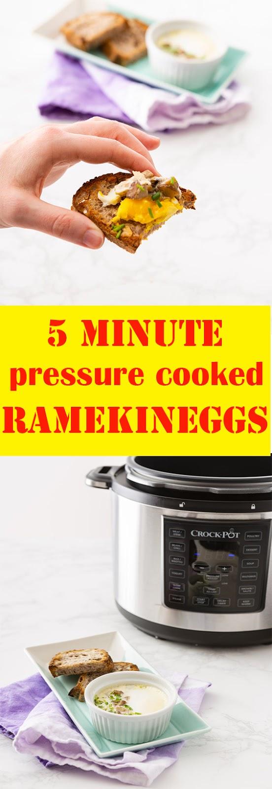 5 minute pressure cooked ramekin eggs