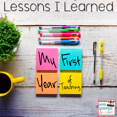 Here are the lessons I learned during my first year of teaching! New teachers are going to want to read this!