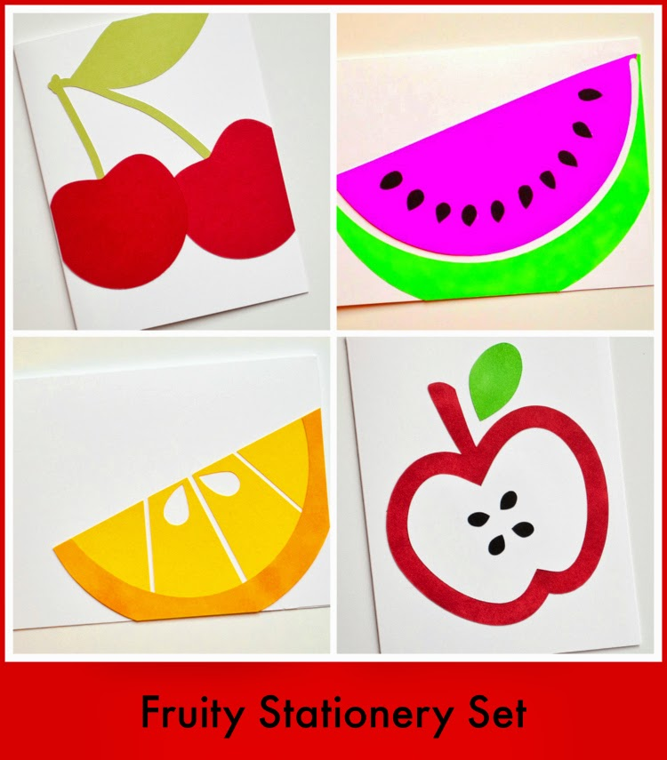 I Make I Talk  Fruity Stationery