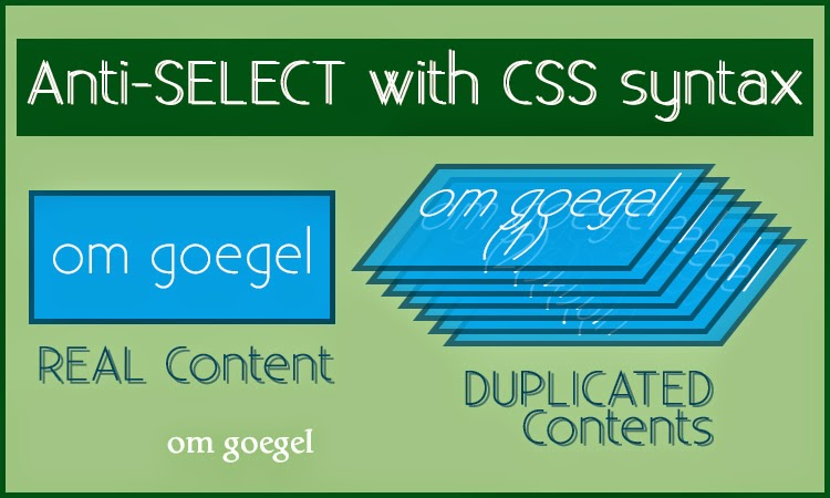 Anti-SELECT with CSS Syntax