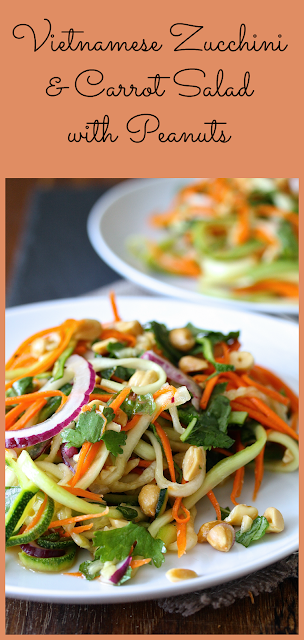 Vietnamese Zucchini and Carrot Salad with Peanuts