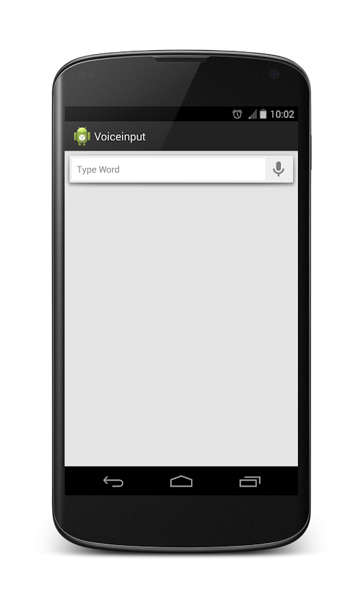 Implement Voice input mechanism in android