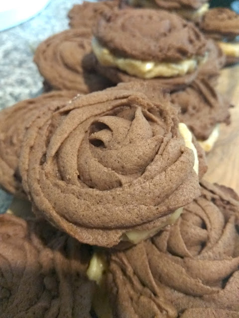 Peanut Butter Rose Spritz Cookies