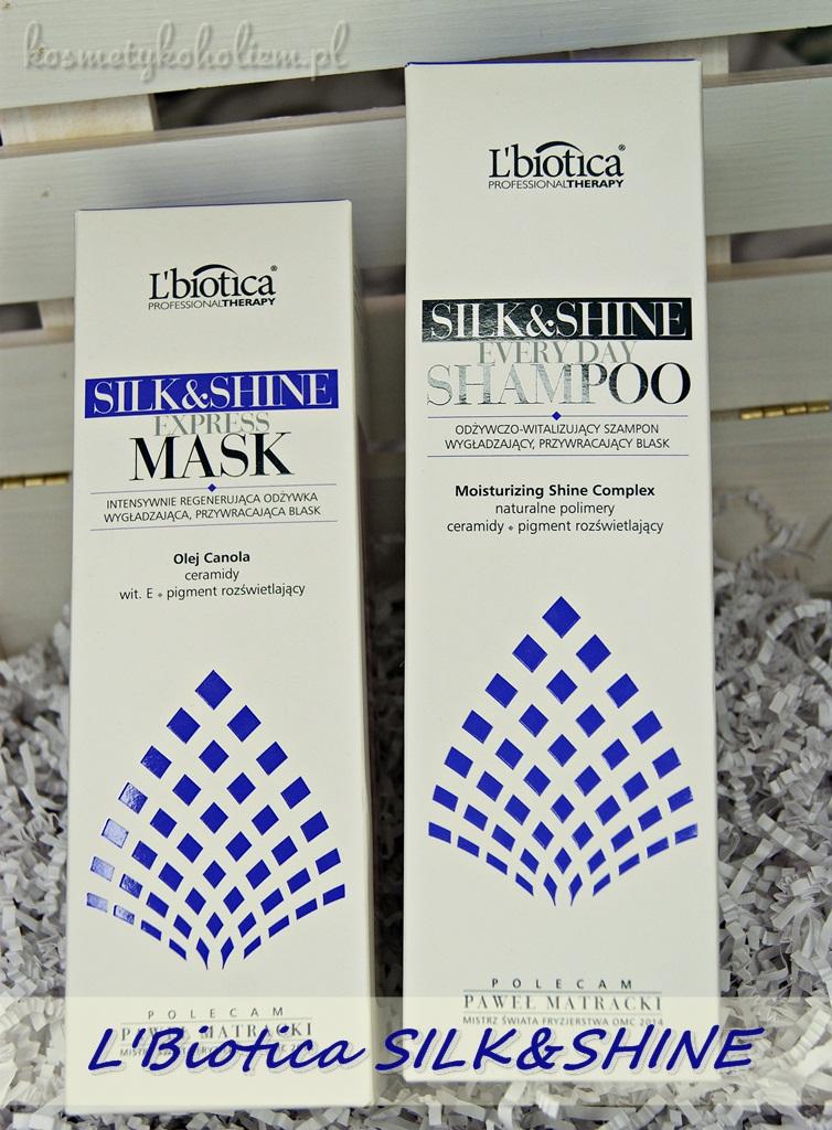 L'Biotica SILK&SHINE Szampon i Odżywka do włosów