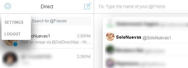 Herramientas directas del Direct Messenger