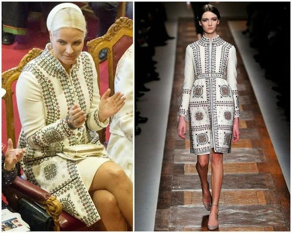 Crown Princess Mette Marit wears Valentino print dress