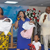 Folorunso Alakija Celebrates With Nigerian couple who welcomed a set of twins after 18 years of marriage (PHOTOS)