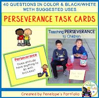Perseverance Character Education - Social Skills Task Cards