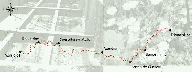 Trilha da Linha Verde, Diamantina a Corinto.