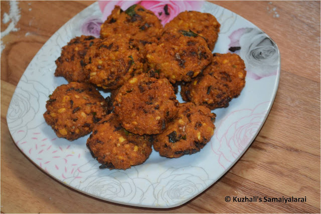 MASALA VADAI / PARUPPU VADA (CHANNA DHAL VADA) / MASAL VADAI RECIPE - EASY SOUTH INDIAN VADA RECIPE-