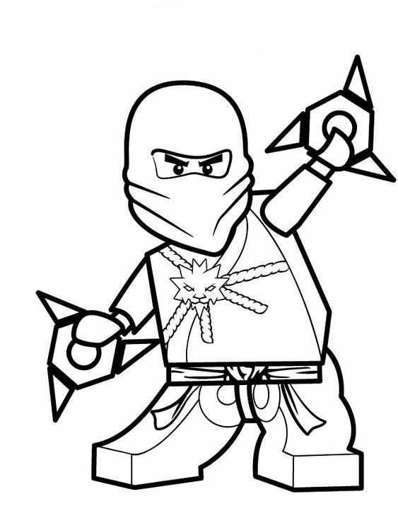Tranh tô màu Ninjago Zan