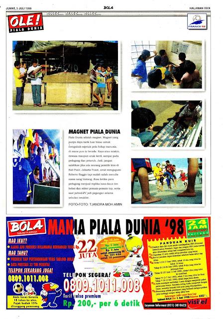 PIALA DUNIA 1998 MAGNET PIALA DUNIA