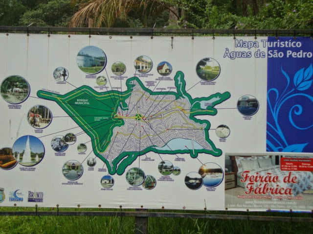 Mapa Turístico de Águas de São Pedro