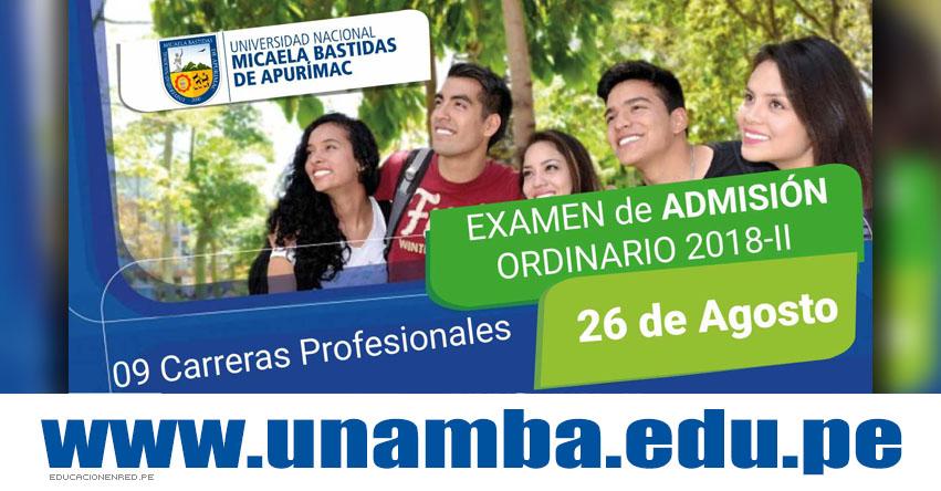 Resultados UNAMBA 2018-2 (26 Agosto) Lista Ingresantes Examen Admisión Ordinario Sede Abancay - Cotabambas - Vilcabamba - Tambobamba - Universidad Nacional Micaela Bastidas de Apurímac - www.unamba.edu.pe