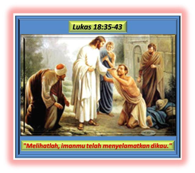 LUKAS  18:35-43
