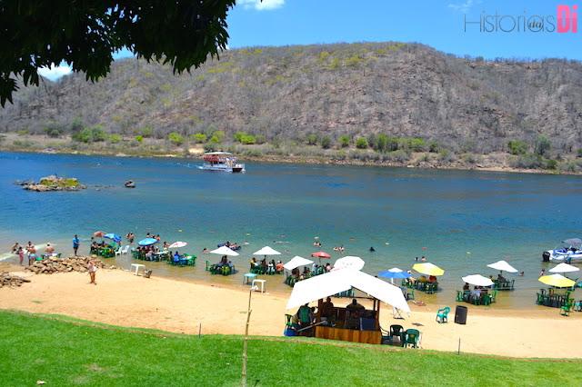 Vista da praia do Restaurante Angicos