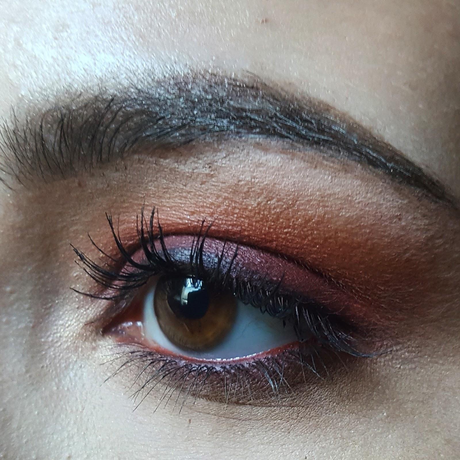 Deep Red Smokey Eye