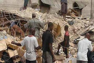 One dies, 3 trapped as 4-storey building collapses in Lagos