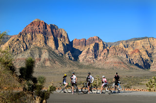 Mosaic Globe Travel the world RTW- Family Travel Cycle to Red Rock Canyon in Las Vegas