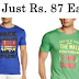 Colt Men's T-Shirts at Just Rs.87 [Add 2 To Cart] + FREE Shipping