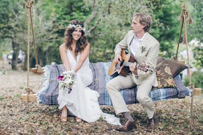 mariage boho-chic
