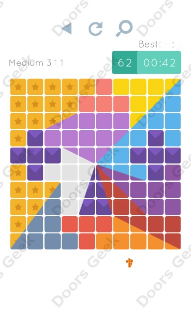 Cheats, Walkthrough for Blocks and Shapes Medium Level 311