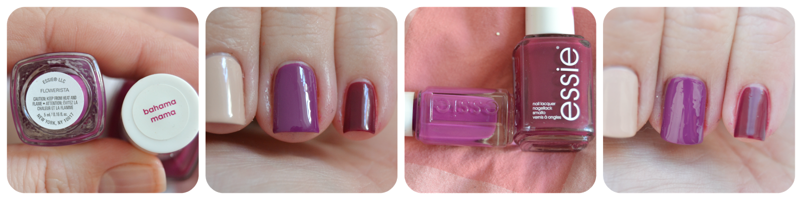 Essie Flowerista Vs Bahama Mama LE Swatch Review Vergleich