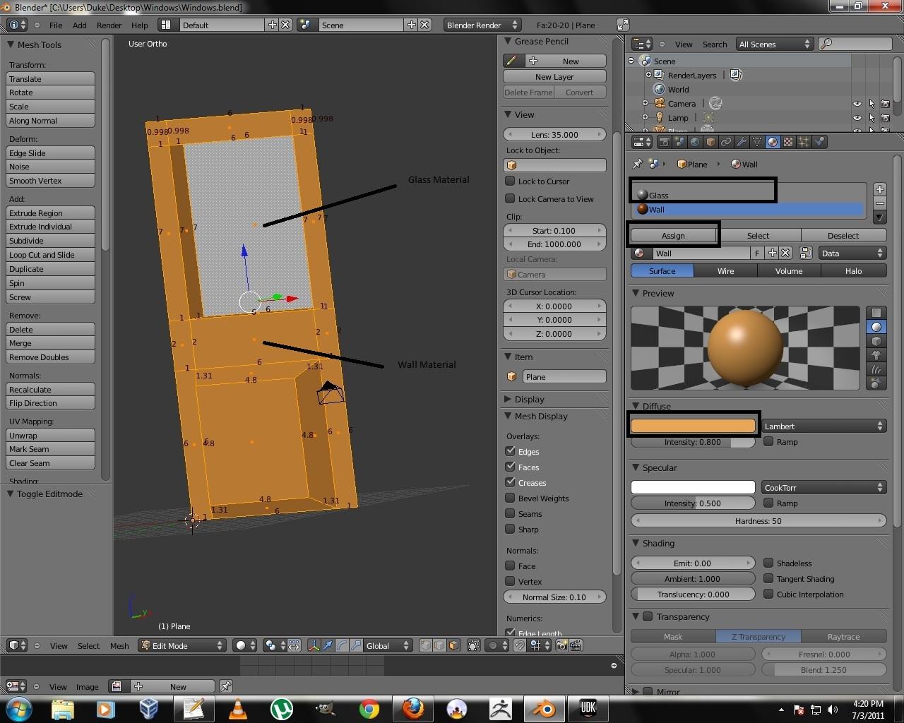 Blender Low Poly Window Texturing & Unwrap