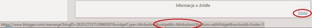 "Jak usunąć napis ""Technologia Blogger"""