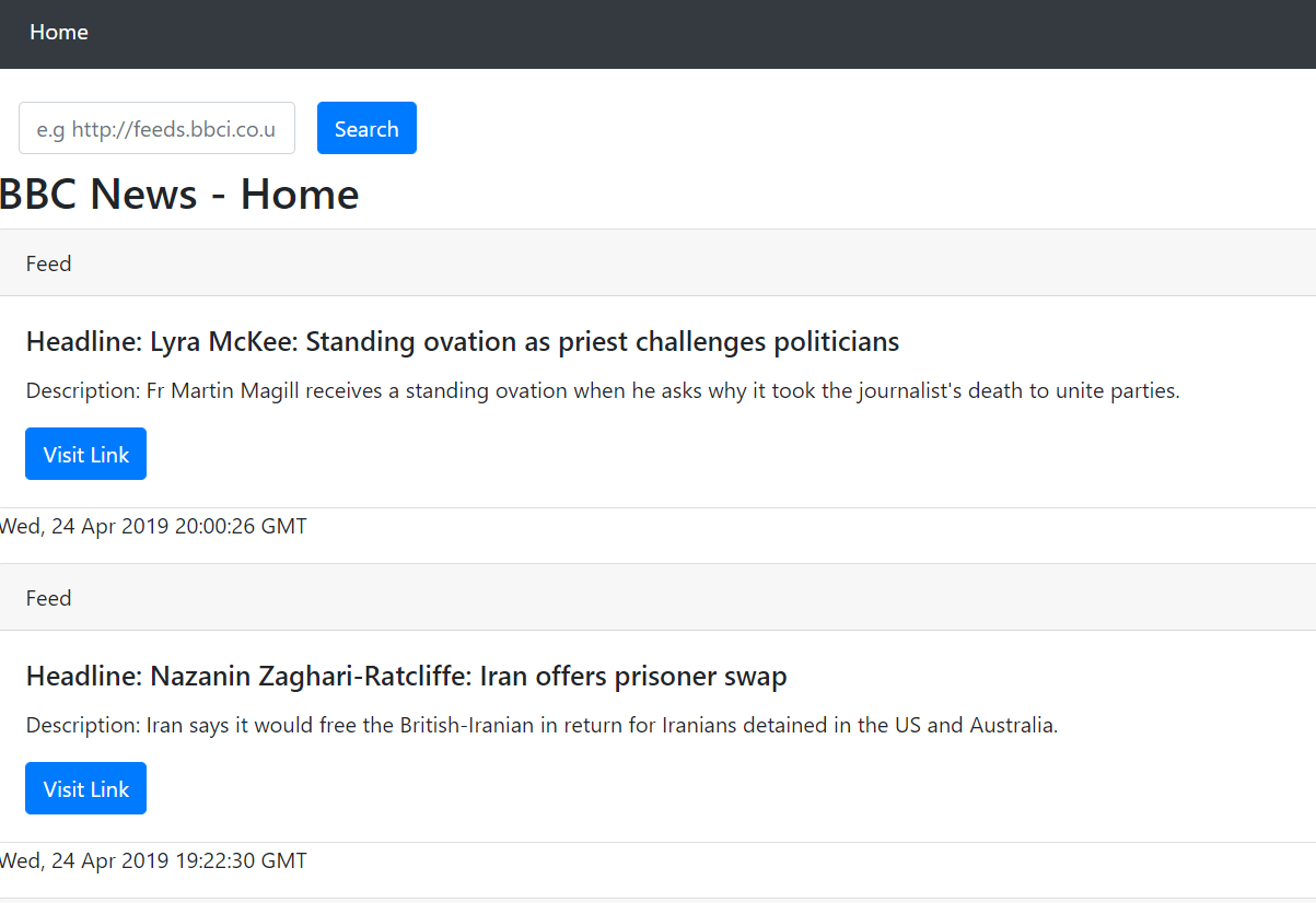 Make RSS reader using python and django : Mini Project for