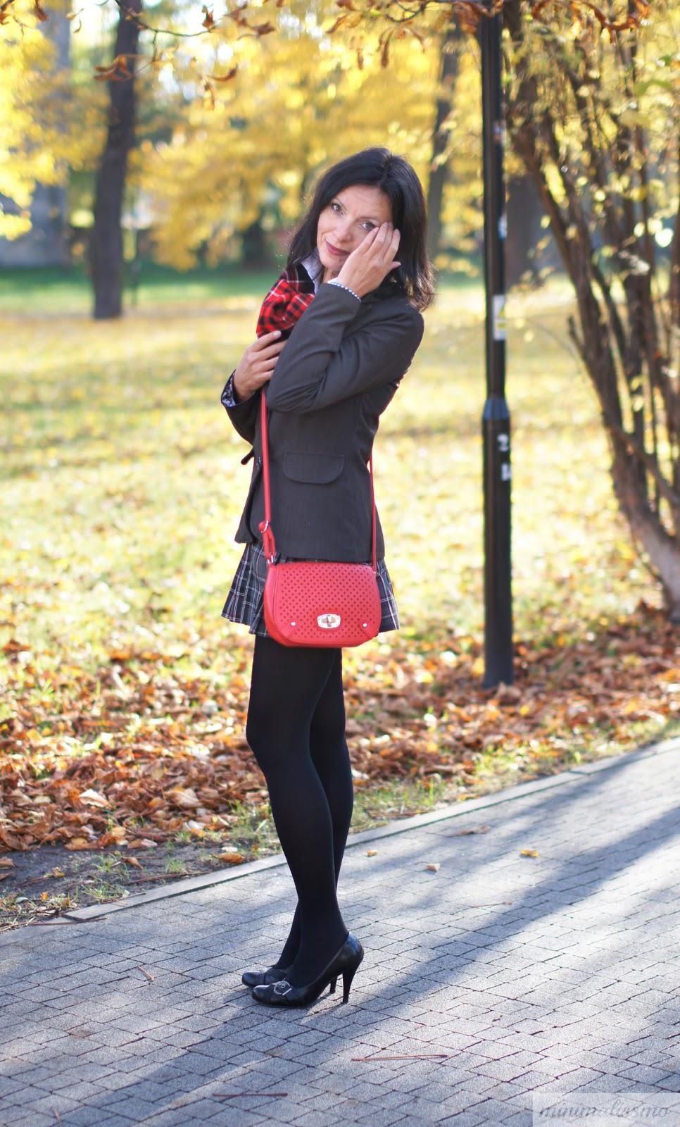 mini skirt, scarf, kaszkiet, natural, grey,