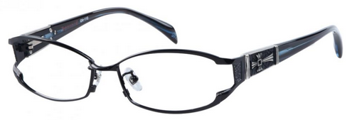 Aubervilliers Rectangle Frames in Black from GlassesShop.com