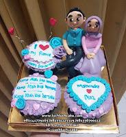 Cupcake Ulang Tahun Tema Romantis