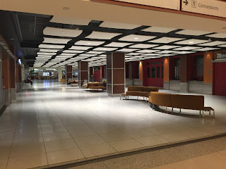 New Orleans airport empty