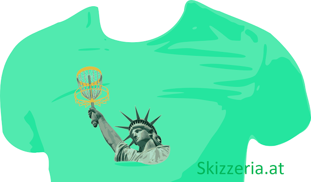 Lady Liberty plays Disc Golf