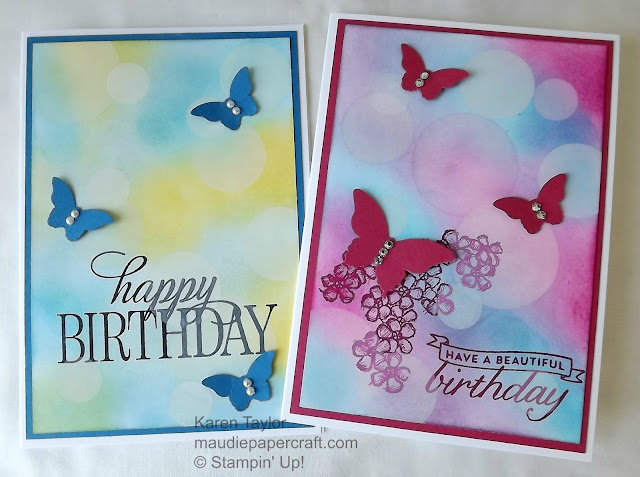 Stampin' Up! Bokeh and butterfly cards