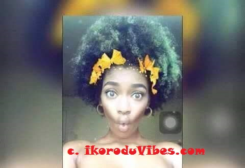 Photos Of How A Girl Celebrates NO BRA DAY In Nigeria (18+ Viewers Description Is Adviced)