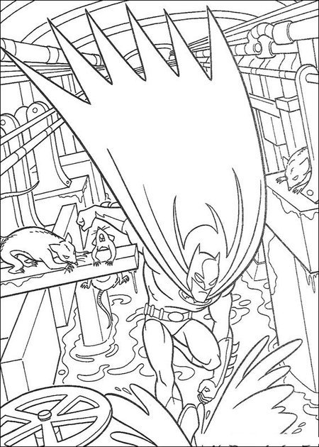 New Batman Coloring Pages Free for Kids >> Disney Coloring