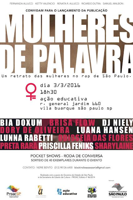 LANÇAMENTO DA PUBLICAÇÃO MULHERES DE PALAVRA.