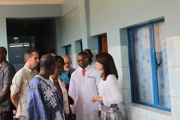 Crown Princess Mary of Denmark visited the various charitable projects