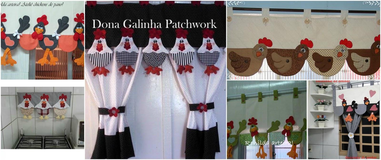 10 cenefas de gallinitas para decorar la cortina de tu Cenefas para cocina