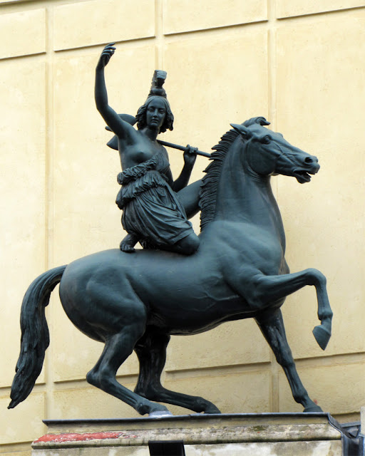 Equestrian statue by James Pradier, Cirque d'hiver (Winter Circus), Paris