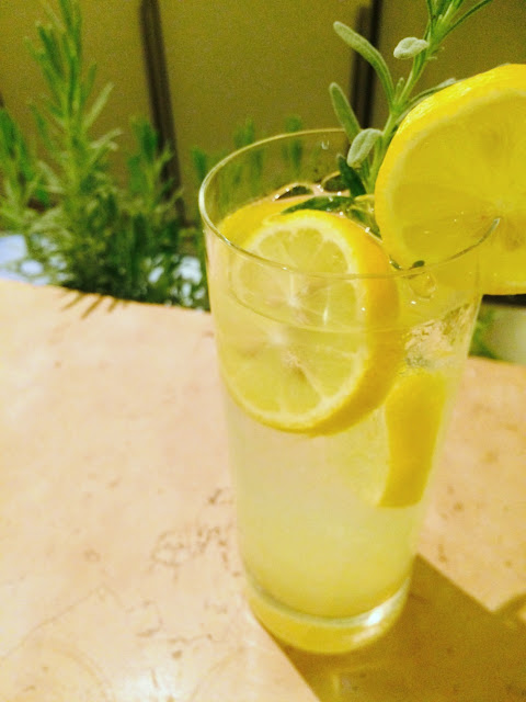 Sparking Lavender Lemonade from Ritz-Carlton Pentagon City. Made with Lavender simple syrup. Perfect for summertime.