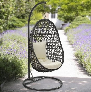 Yopih Cocoon Hanging Chair And Cushion Rattan Swing Chair Outdoor Garden Patio Hanging Wicker Weave Furniture, Outdoor Patio Swings, Outdoor Furniture, Swings, Outdoor Swings, Gliders, Wicker Outdoor Patio Swings, Wood Outdoor Patio Swings, Wicker Patio Swings, Wood Outdoor Patio Swings,