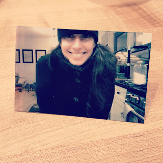 picture of a picture of a smiling mom taken by her 6 year old son