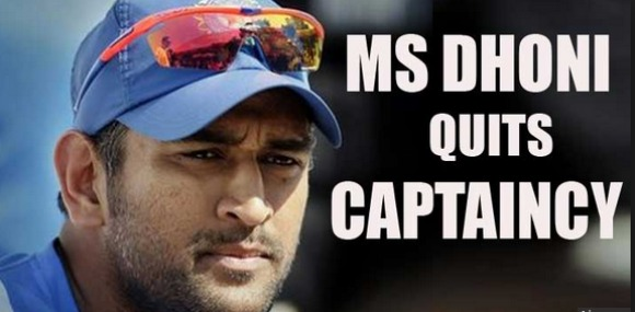 MS Dhoni Quits As Team India Captain