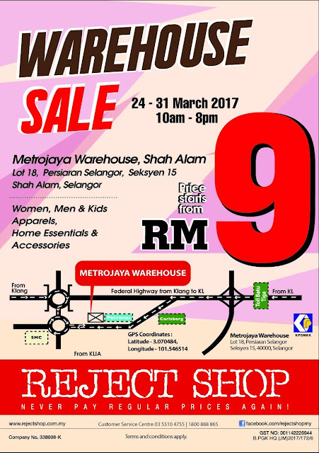 Metrojaya Reject Shop Warehouse Sale Shah Alam