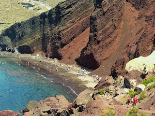 Santorini, Red Beach, czerwona plaża